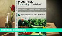 Read Online Modified MasteringNutrition with MyDietAnalysis with Pearson eText -- Standalone