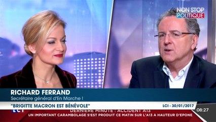 """Brigitte Macron ? """"Elle est bénévole"""", ironise le secrétaire général d'En Marche !"""