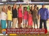 UB: Mga kababayan ni Pacquiao sa GenSan, buong-buo ang suporta sa Pambansang Kamao