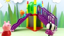 Muddy Puddles and Muddy Slide Peppa Pig Stop Motion Animation with toys and assesories all new 2016