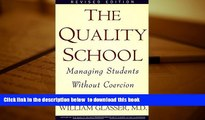 [PDF]  The Quality School William, M.D. Glasser Pre Order