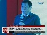 24Oras: Duterte At Roxas, nagbanta ng sampalan dahil sa isyu kung Wharton Alumnus si Roxas