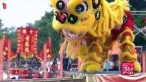 Chine: une danse des lions hypnotisante pour fêter le Nouvel An
