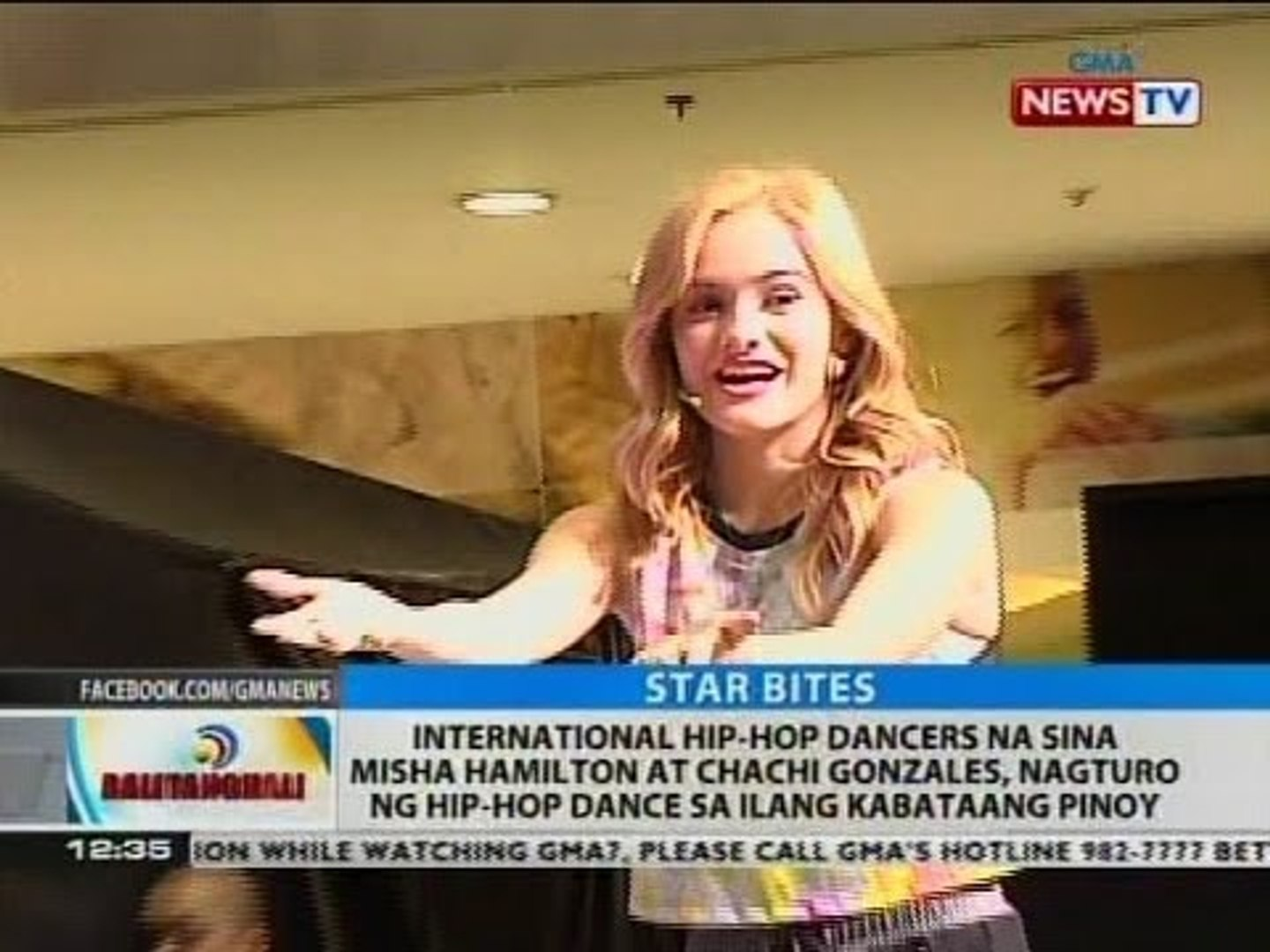 International hip-hop dancers na sina Misha Hamilton at Chachi Gonzales, nagturo ng hip-hop dance