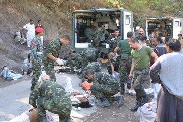 La ayuda humanitaria de la Sanidad Militar española