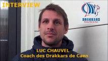 Hockey sur glace D1 - 2017-01-28 Interview Luc Chauvel Coach des Drakkars de Caen