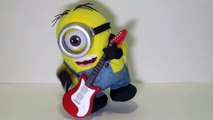 Minions Stuart Rock N Roll singing, playing his guitar and dancing