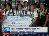 Women's team ng Phl Dragon Boat Federation, 2nd placer sa 500 Meters Standard Competition