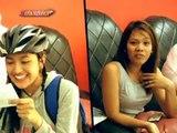 Julie Anne and Dasuri as bike messengers   Day Off