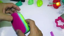 Play-Doh Kids - Play DOh Ice Cream - Make Ice Cream rainbow Playdoh For Peppa Pi