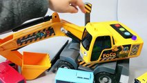 Tayo the Little Bus Excavators Disney Cars English Learn Numbers Colors Toy Surprise
