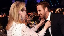 Meryl Streep Sweetly Fixes Ryan Gosling's Bow Tie At SAG Awards