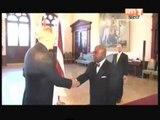 L'ambassadeur Bernard Tanoh Boutchoué a présenté ses lettres de créances au président Léttonie