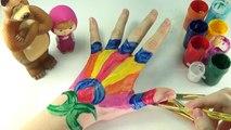 Бодиарт обучения Цвета видео для детей с Body Paint * Маша и Медведь