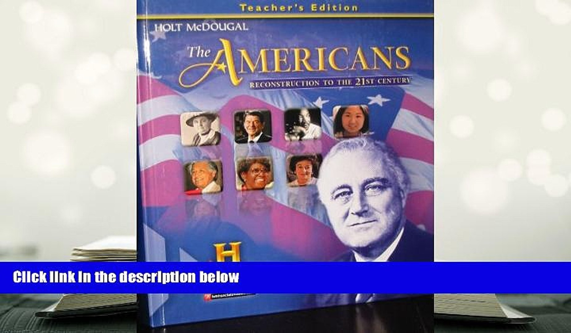 Download [PDF] The Americans: Teacher Edition Reconstruction to the 21st  Century 2012 Full Book