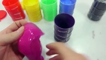 DIY How To Make Syringe Ink Slime Drums Learn Colors Slime Clay Icecream