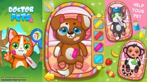 Game app for Kids. Doctor Pets Heal your little friends: Cat, Monkey, Dog, Rabbit. Hospital Pets.