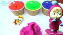 Play Dough Ice Cream Cups Surprise Toys Peppa Pig Paw Patrol Hulk Masha McQueen Cars 2 Pixar