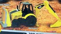 CAT CONSTRUCTION TRUCKS FOR KIDS with REMOTE CONTROL MASSIVE MIGHTY MACHINES DIGGERS