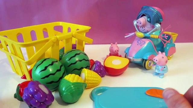 Peppa Pig-Toy Cutting Fruit Vegetables basket Grogeries