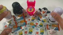 A lot of Candy Surprises with Minions & Star Wars Taffy