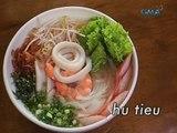 Saksi: Hu tieu, vietnamese noodle soup na may pork broth, seafood at gulay