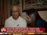 UB: Yaya Dub, binigyan ng VIP tickets ang isang lolong matiyagang pumila para makabili ng tickets