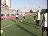 Football/CAN 2013: Seance d'entrainement des Elephants à Abu Dhabi (Emirats Arabes Unis)