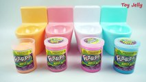 Baby Twins! Flarp Poop Surprise Toilet Toys with Slime Glue Noise Putty, Pokemon