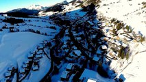 Le Grand Bornand en vue aérienne filmé par un drone