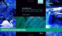 FREE [PDF] DOWNLOAD Murphy on Evidence Peter Murphy For Kindle