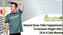 How To Grow Taller After 20 With Natural HGH Supplements - video