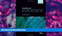DOWNLOAD EBOOK Murphy on Evidence Peter Murphy Pre Order