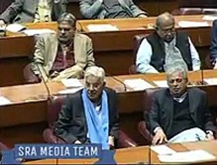 Sheikh Rasheed Taunts Khawaja Asif During Speech In Assembly..