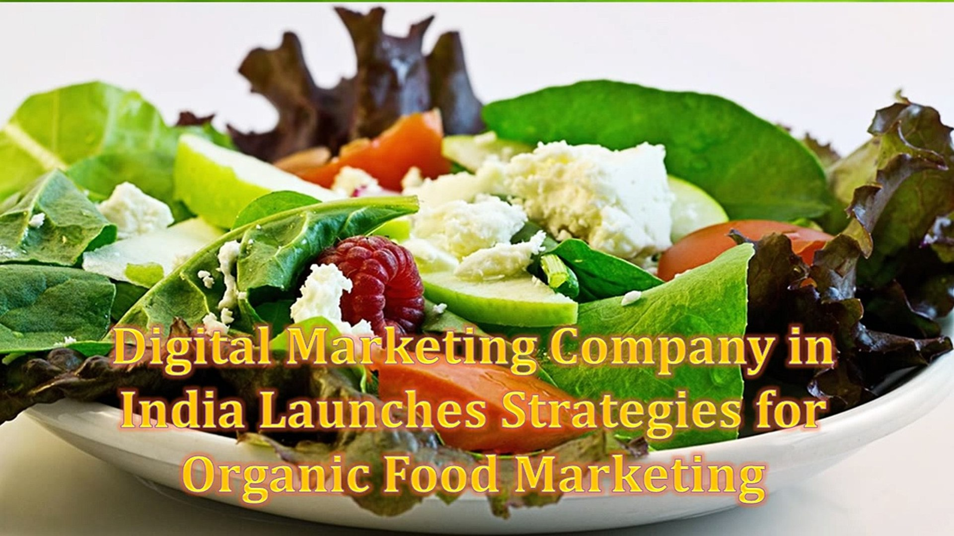 Digital Marketing Company in India Launches Strategies for Organic Food  Marketing