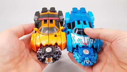 Transformers Robots in Disguise Mini Con Deployers Drift Fracture Overload Vehicle Robot Car Toys