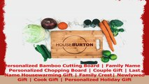 Personalized Bamboo Cutting Board  Family Name  Personalized Chopping Board  Couple 987d9733