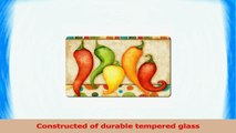 Highland Graphics Fiesta Peppers Tempered Glass Cutting Board 10 by 8inch 82112cf8