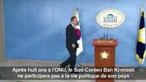 Corée du Sud: Ban Ki-moon renonce à briguer la présidence