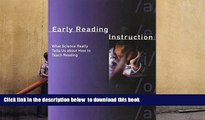 PDF  Early Reading Instruction: What Science Really Tells Us about How to Teach Reading (MIT