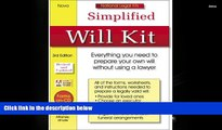 PDF [FREE] DOWNLOAD  Simplified Will Kit: National Legal Kit Series (Simplified Will Kit (W/CD))