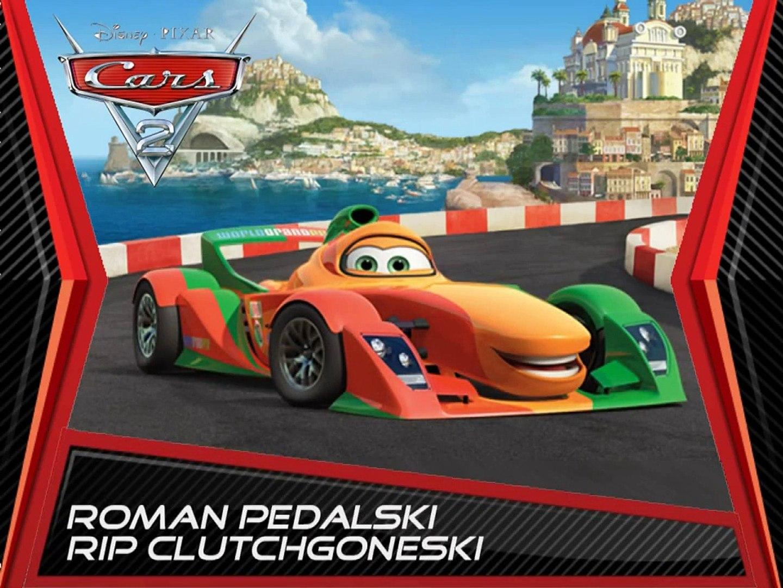 Disney Pixar Cars 2 Роман Pedalski Rip Clutchgoneski Mattel diecast немецкий german