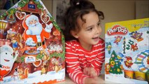Play Doh and Kinder Surprise Christmas Advent Calendar Day 6 The Peanuts movie Maxi Kinder Eggs