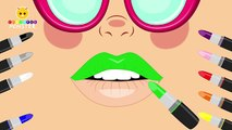 Learn Colors with Lipstick Colours to Kids Children Toddlers Baby Play Videos - Fun Learning Videos