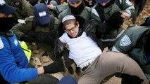 Heves összecsapássá fajult egy illegális zsidó telep kiürítése