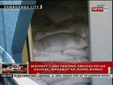 QRT: Mahigit 7,000 sakong smuggled na asukal, nasabat sa isang barko