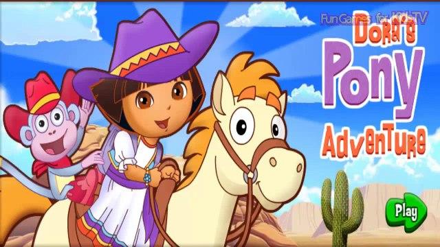Dora the Explorer PLAY: Nick Jr. Games - Funny Gameplay for Kids (Pony Adventure)