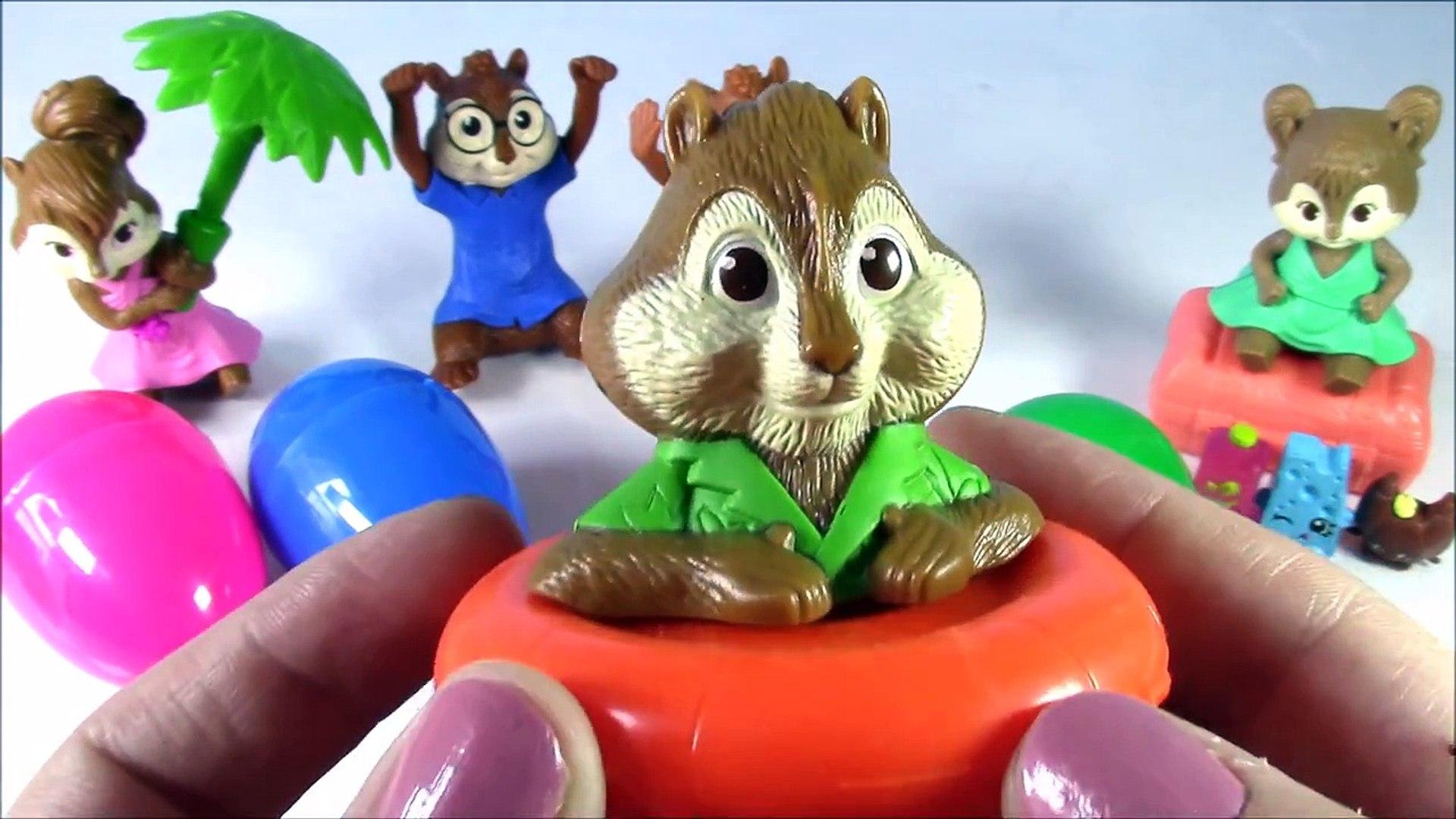 Alvin And The Chipmunks Shopkins Surprise Eggs Nick Jrs Alvin
