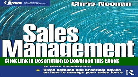 [PDF] Download Sales Management (Marketing Series: Practitioner) Online Ebook
