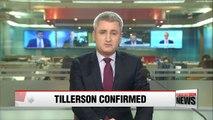 Rex Tillerson confirmed as U.S. Secretary of State